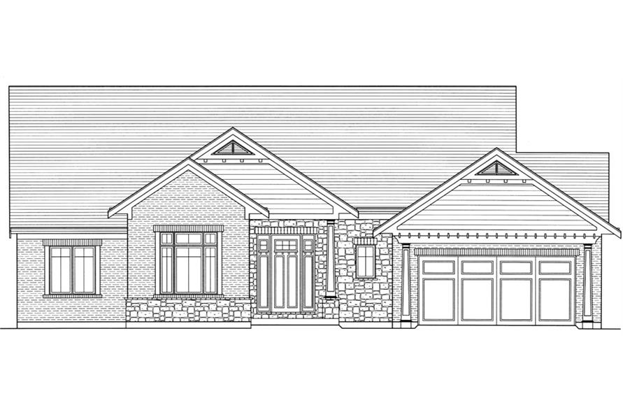 169-1055: Home Plan Front Elevation