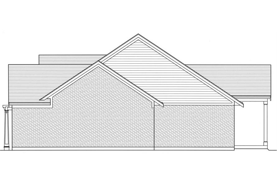 169-1055: Home Plan Right Elevation