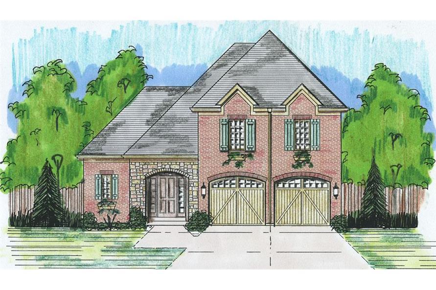 169-1056: Home Plan Rendering