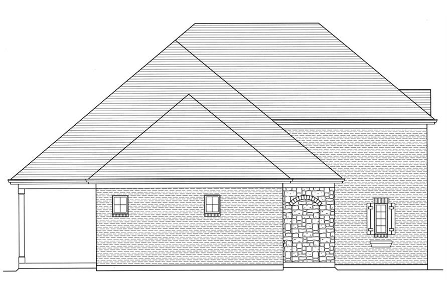 169-1056: Home Plan Left Elevation