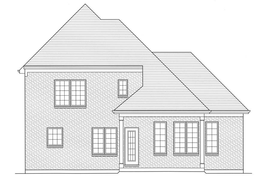 169-1056: Home Plan Rear Elevation