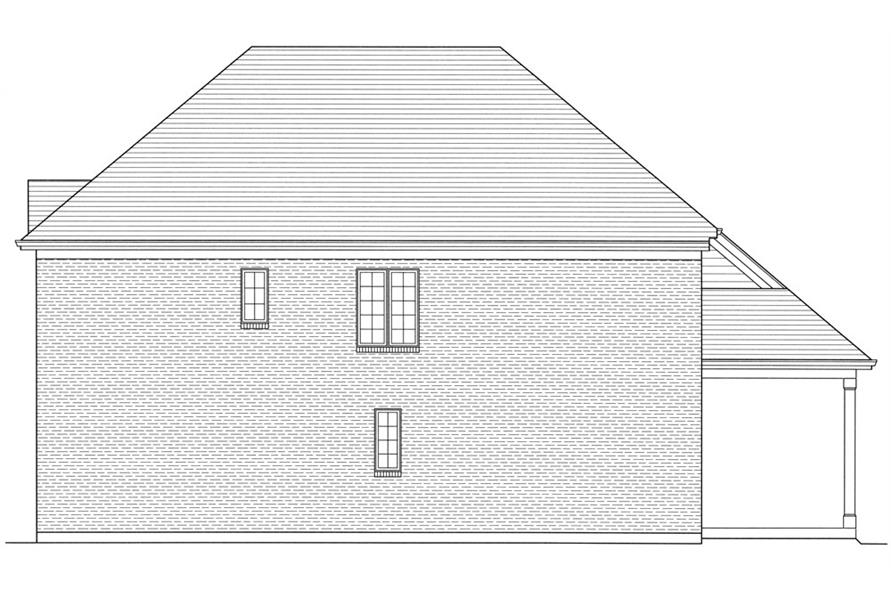 169-1056: Home Plan Right Elevation
