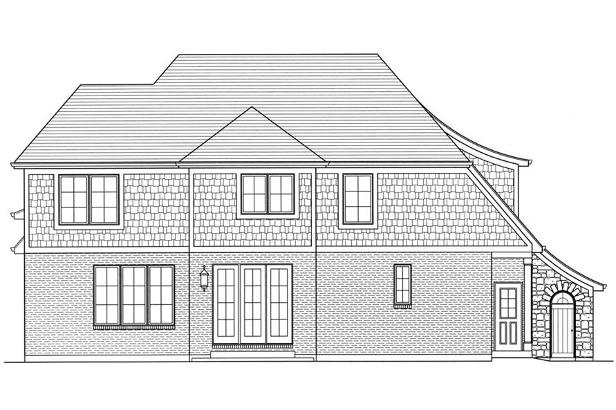 169-1057: Home Plan Rear Elevation
