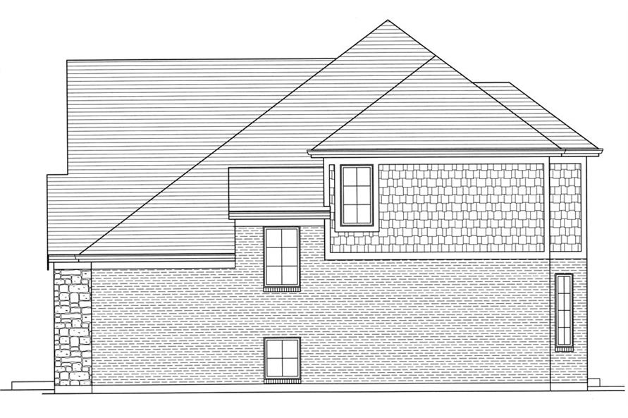 169-1057: Home Plan Right Elevation