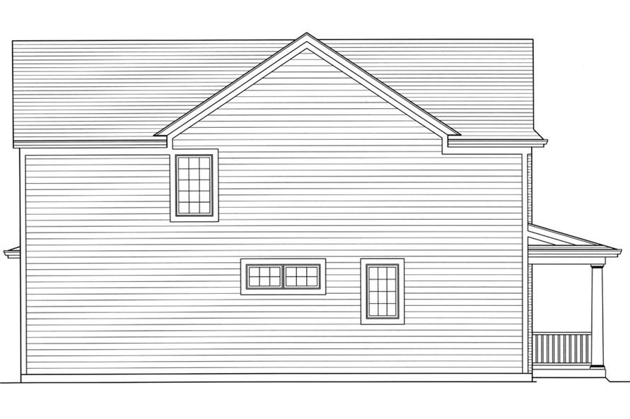169-1058: Home Plan Left Elevation