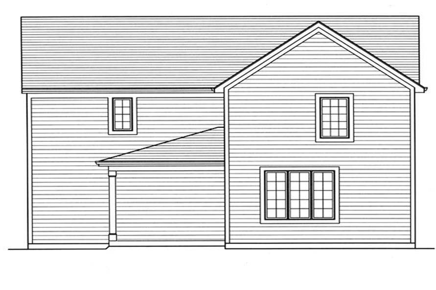 169-1058: Home Plan Rear Elevation