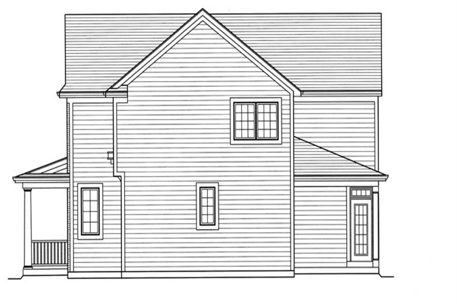 169-1058: Home Plan Right Elevation