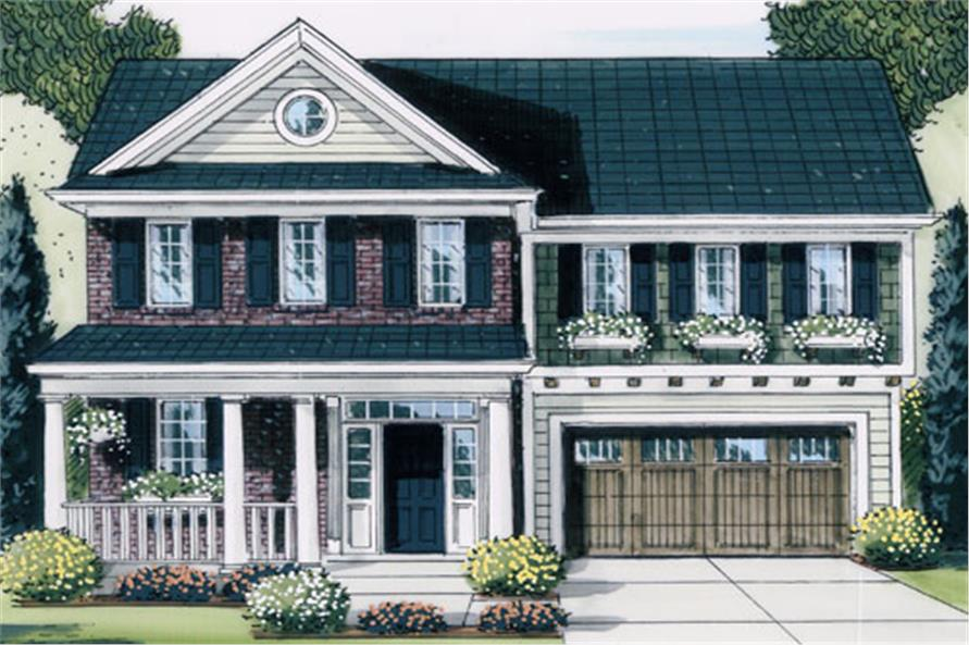 Front elevation of Traditional home (ThePlanCollection: House Plan #169-1058)
