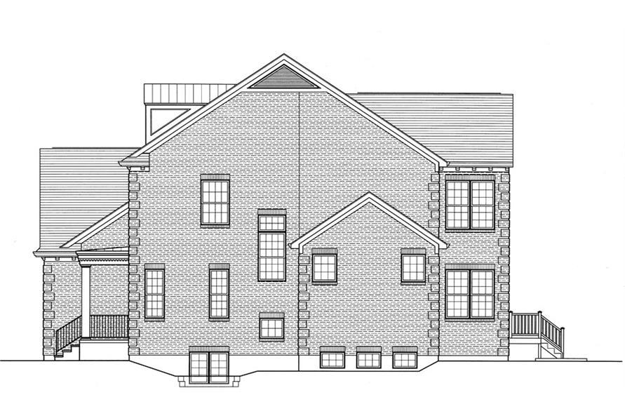169-1059: Home Plan Left Elevation