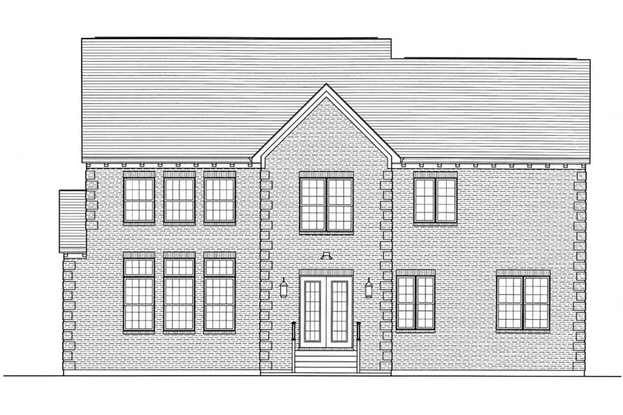 169-1059: Home Plan Rear Elevation