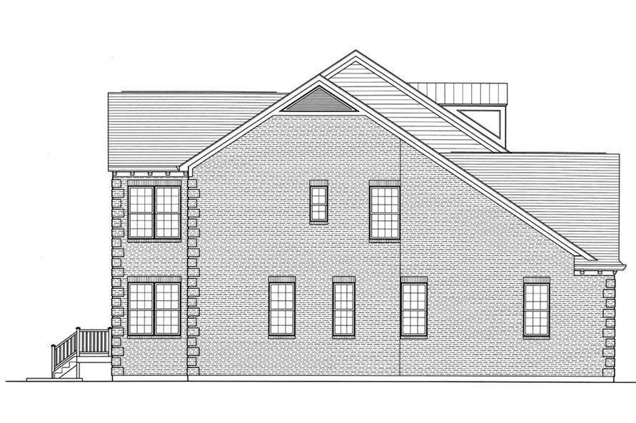169-1059: Home Plan Right Elevation
