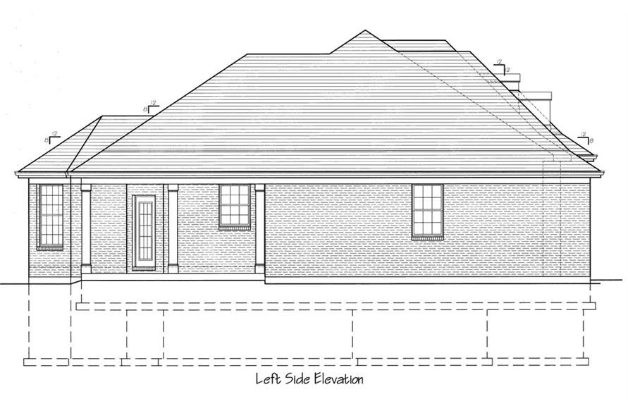 169-1060: Home Plan Left Elevation