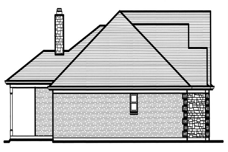 169-1061: Home Plan Left Elevation