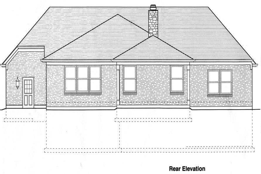 169-1061: Home Plan Rear Elevation