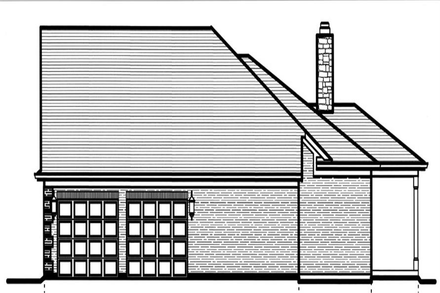 169-1061: Home Plan Right Elevation