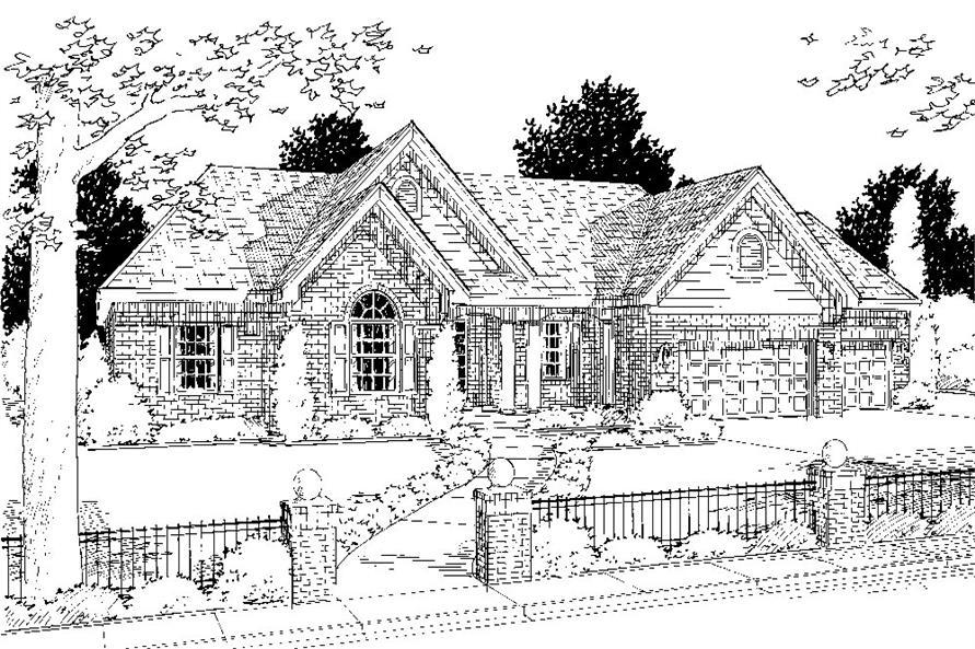 169-1062: Home Plan Rendering