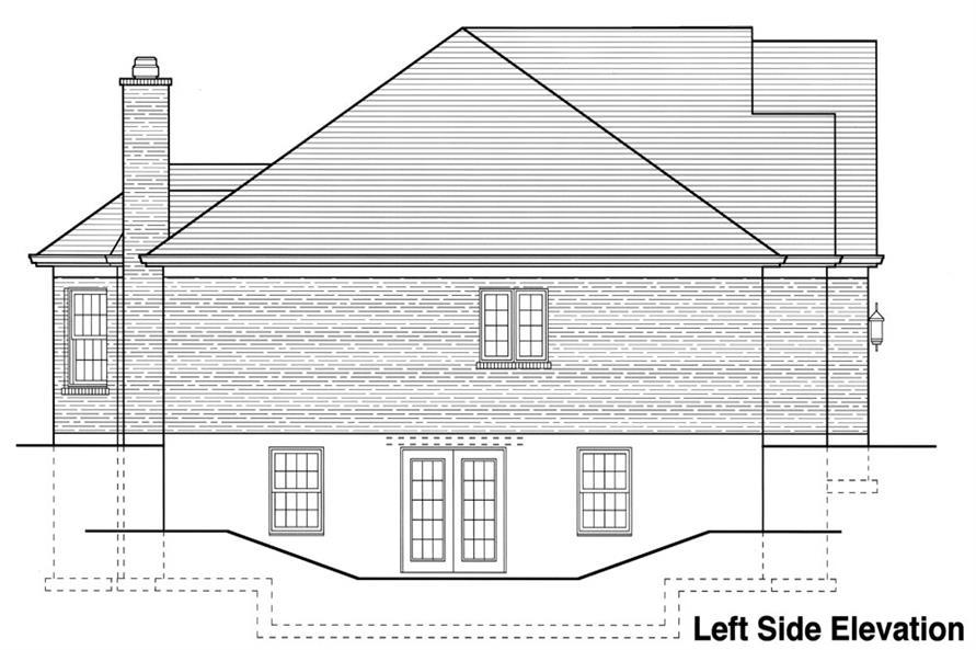 169-1062: Home Plan Left Elevation