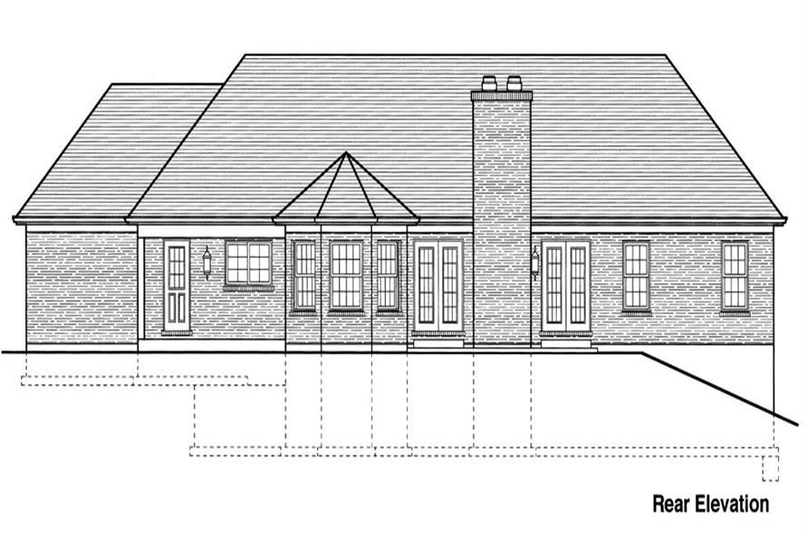 169-1062: Home Plan Rear Elevation