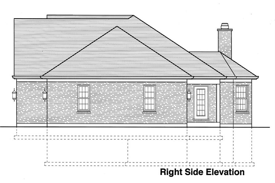 169-1062: Home Plan Right Elevation