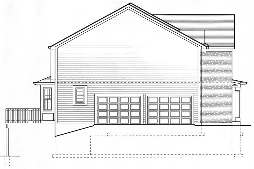 169-1063: Home Plan Left Elevation