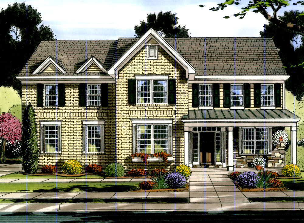 Traditional House Plan #169-1063: 4 Bedrm, 3018 Sq Ft Home