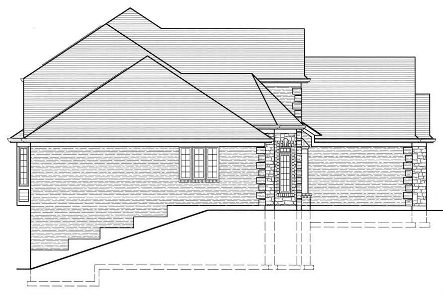 169-1064: Home Plan Left Elevation
