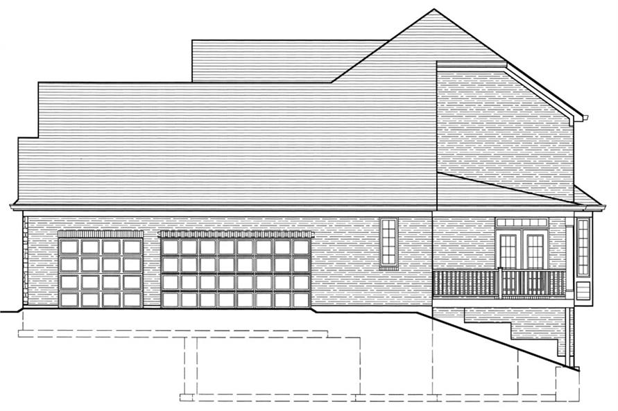 169-1064: Home Plan Right Elevation