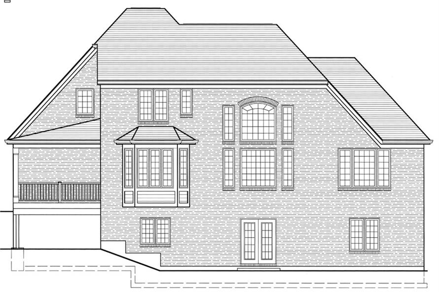 169-1064: Home Plan Rear Elevation