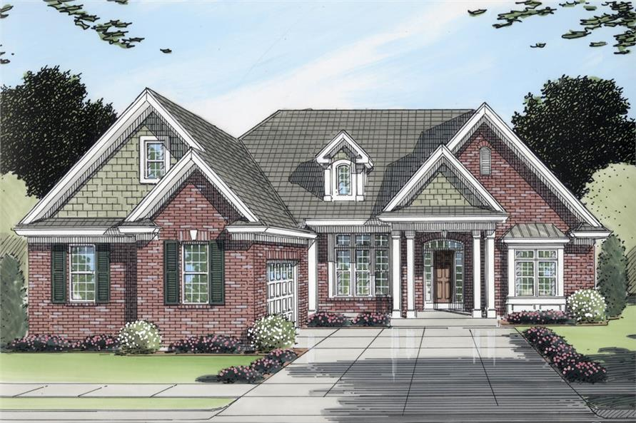 169-1065: Home Plan Rendering