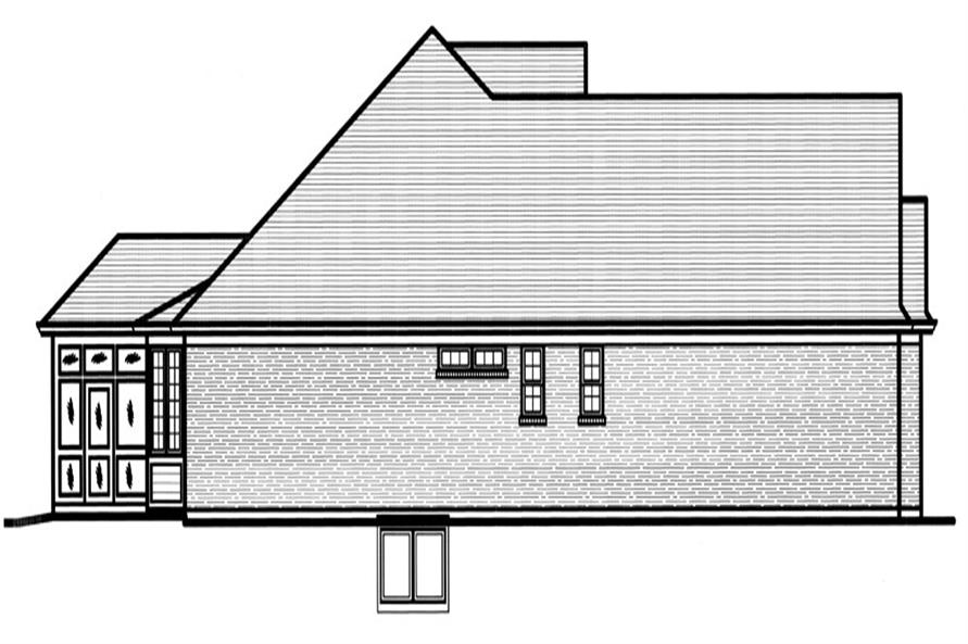 169-1065: Home Plan Left Elevation