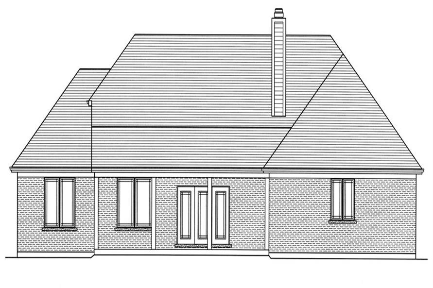 169-1066: Home Plan Rear Elevation