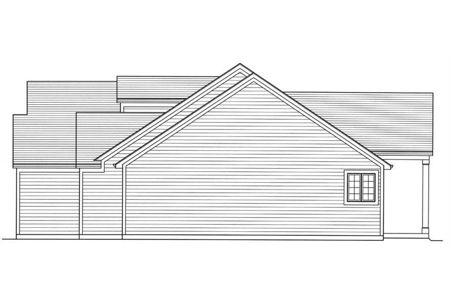 169-1067: Home Plan Left Elevation