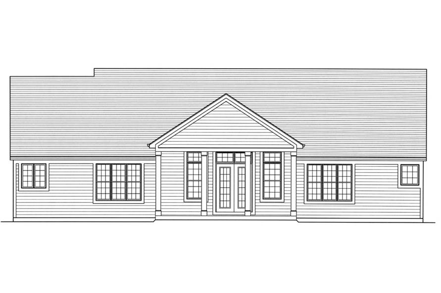 169-1067: Home Plan Rear Elevation