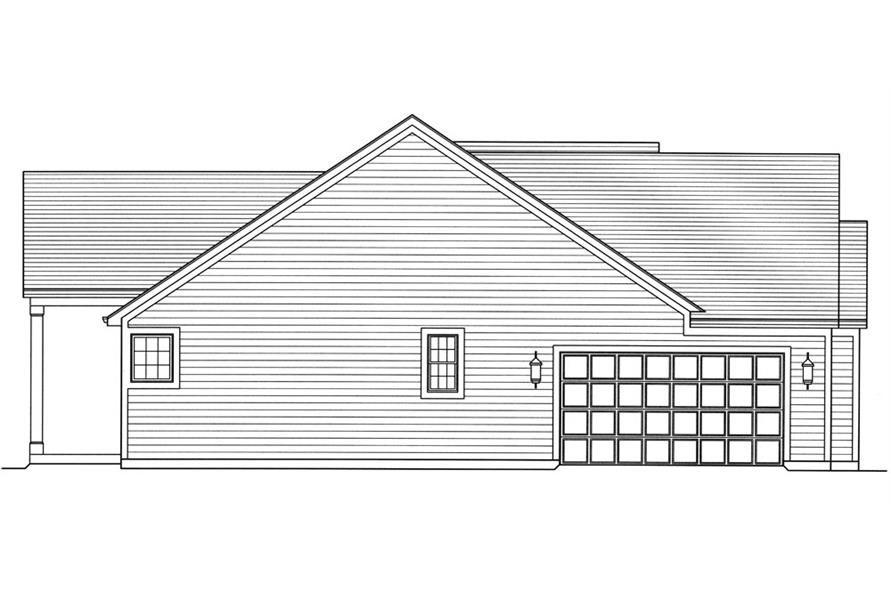169-1067: Home Plan Right Elevation