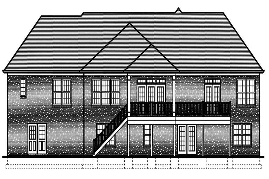 169-1068: Home Plan Rear Elevation