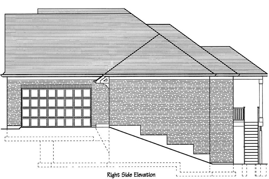 169-1068: Home Plan Right Elevation