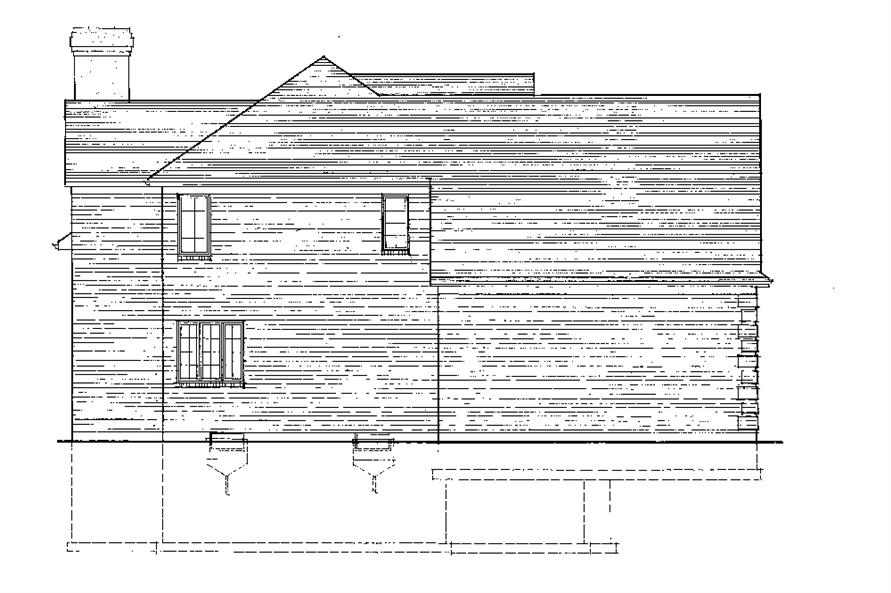 169-1069: Home Plan Left Elevation
