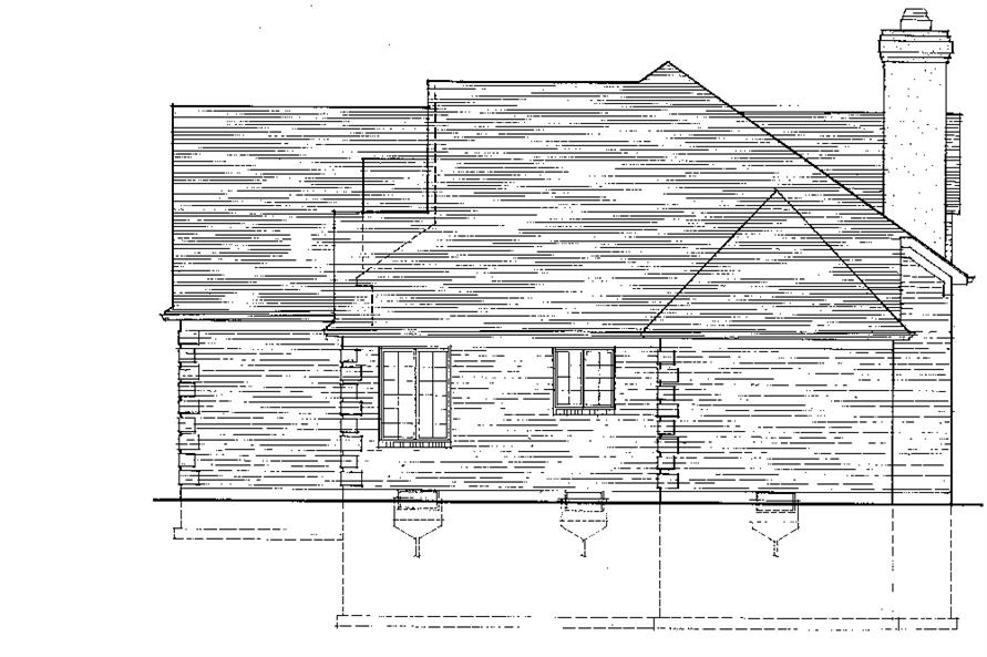 169-1069: Home Plan Right Elevation