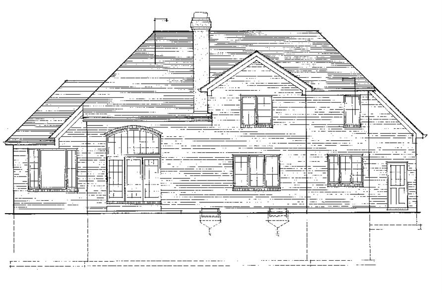 169-1069: Home Plan Rear Elevation