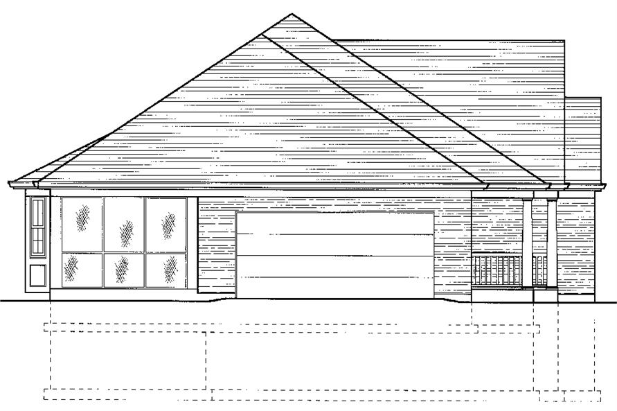 169-1070: Home Plan Left Elevation