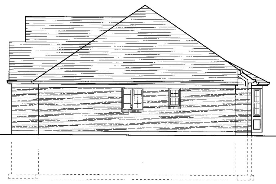 169-1070: Home Plan Right Elevation