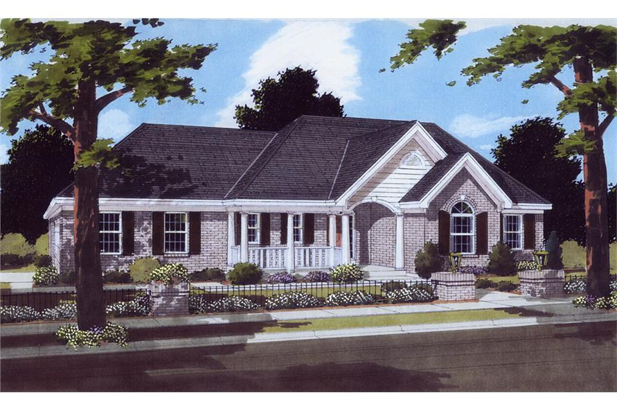 Front elevation of Traditional home (ThePlanCollection: House Plan #169-1070)