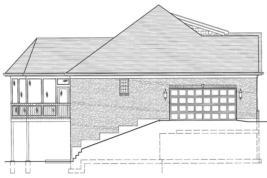 169-1071: Home Plan Left Elevation