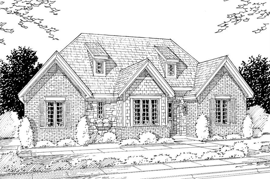 169-1071: Home Plan Rendering