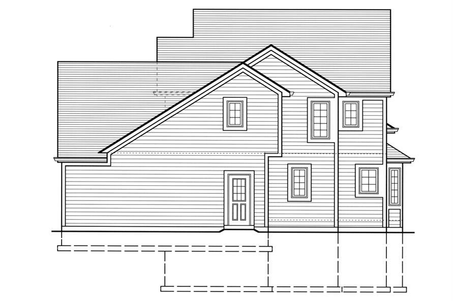 169-1072: Home Plan Left Elevation
