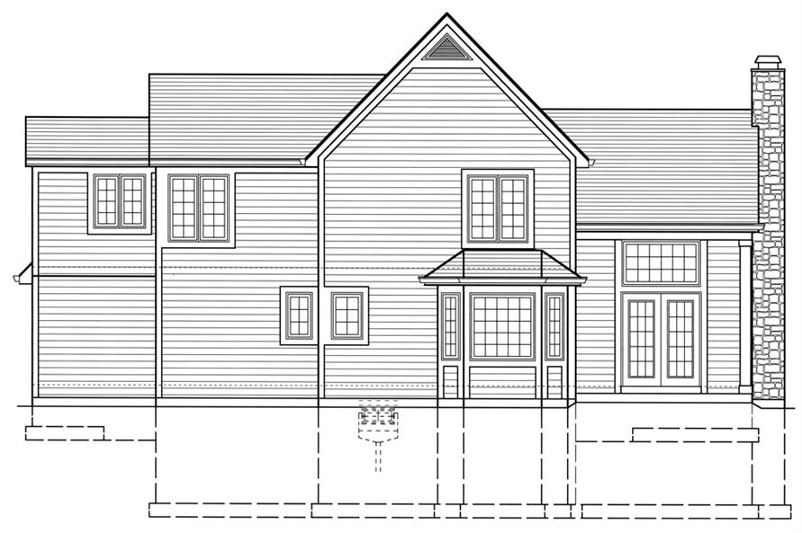 169-1072: Home Plan Rear Elevation