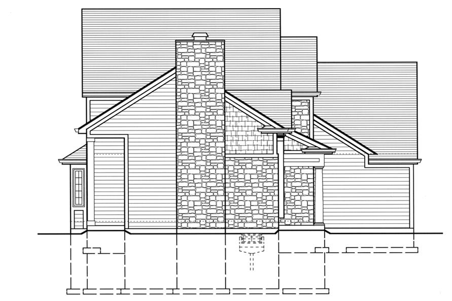 169-1072: Home Plan Right Elevation