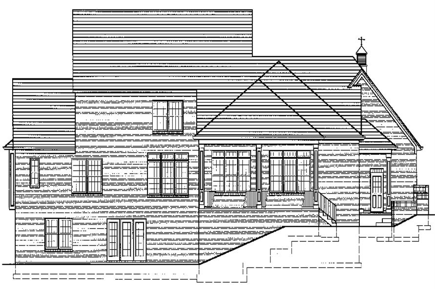 169-1073: Home Plan Rear Elevation
