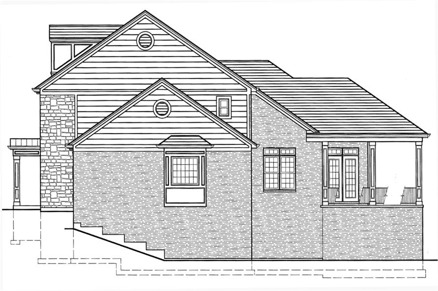 169-1073: Home Plan Right Elevation
