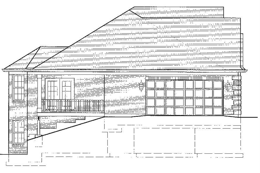 169-1074: Home Plan Left Elevation